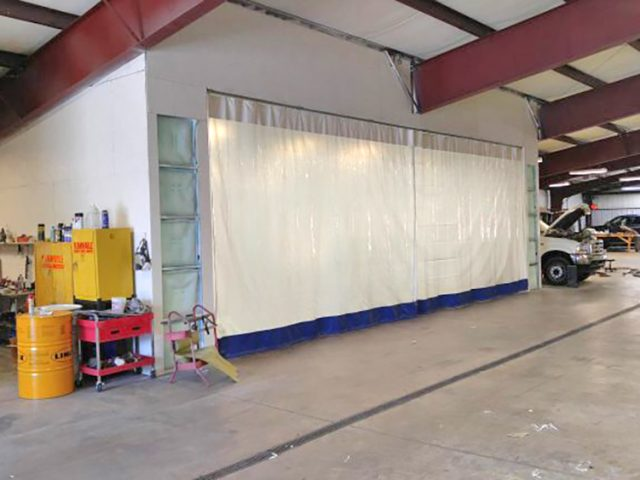 Industrial Curtains For Auto Body Shops