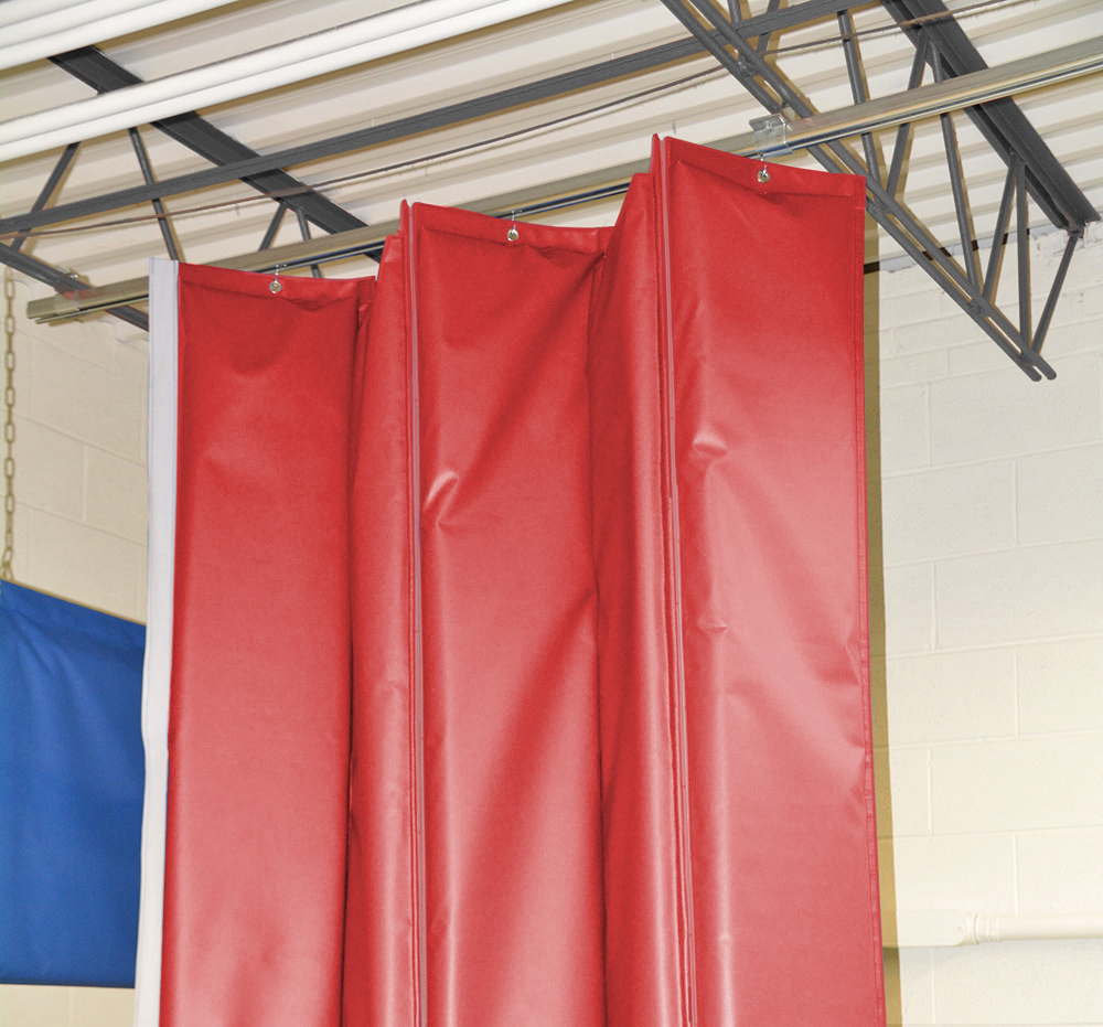 Retractable Industrial Acoustical Curtains Acoustic Curtain Walls
