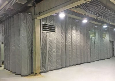 Acoustic - Single Barrier Retractable Curtain